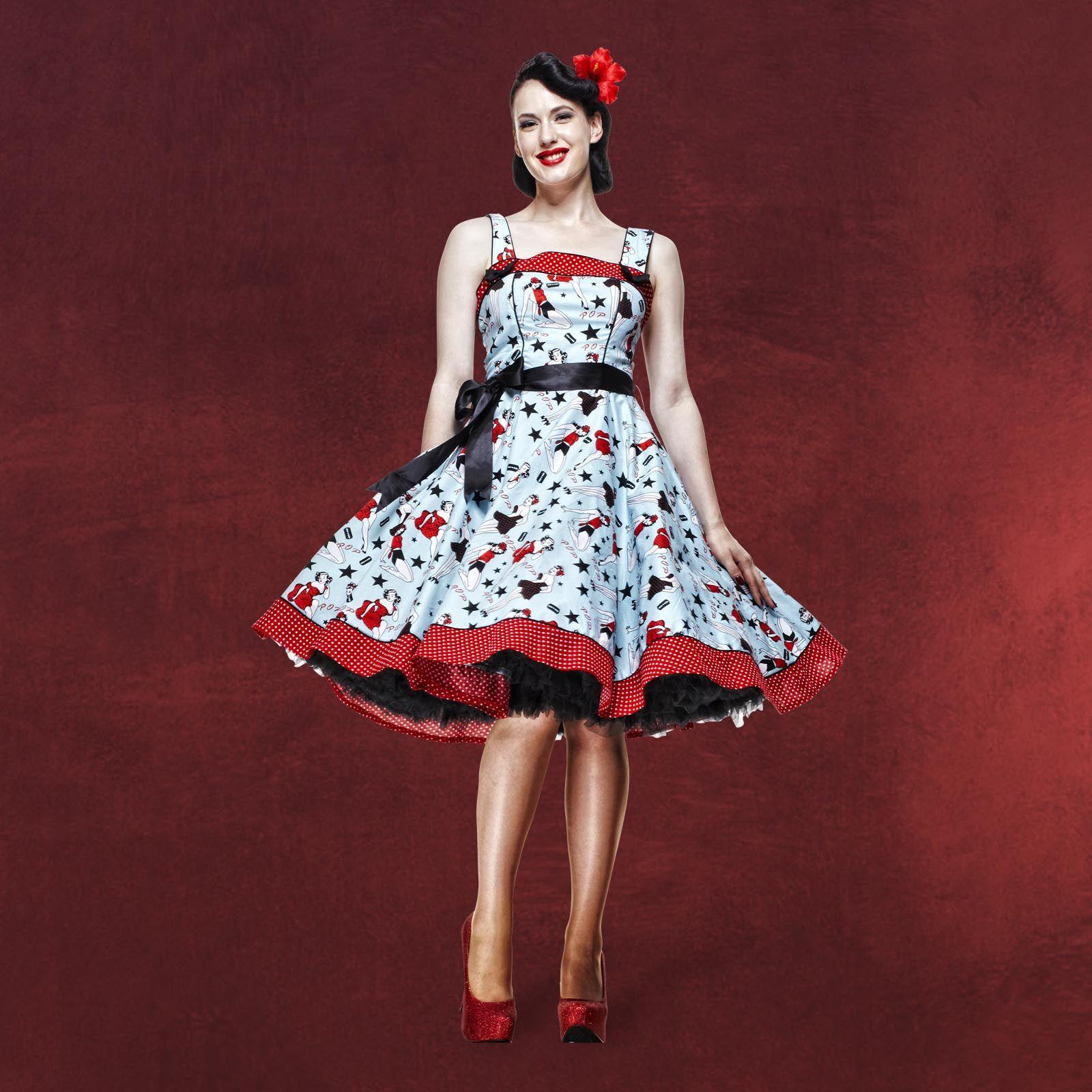 Rockabilly-Kleid Dixie  Rockabilly kleider, Modische kleider, Kleider