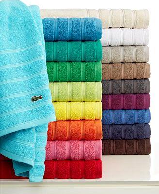 Lacoste Croc Solid Bath Towel Collection Pure Cotton