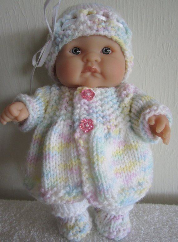 Knitting Pattern Berenguer Baby Doll Matinee Jacket Set For The 8