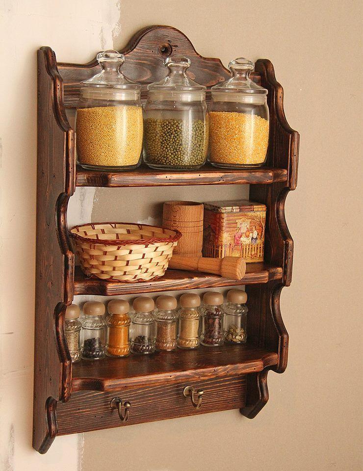 Especiero madera rustico proyectos que debo intentar for Repisas rusticas para cocina