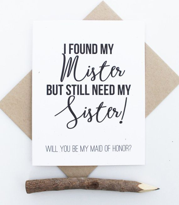 Will You Be My Maid Of Honor Funny Card, Maid Of Honor