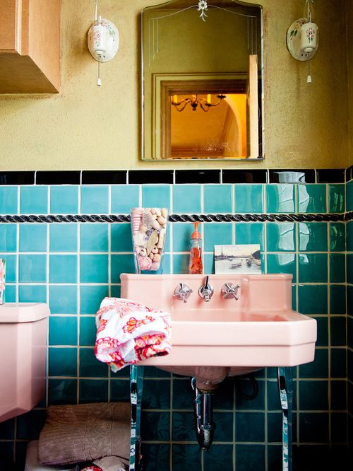 Cool Retro Bathrooms retro bathroom home design ideas, pictures, remodel and decor