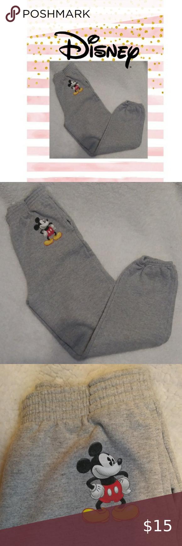 Disney Mickey Mouse Fleece Half-Zip Sweater Jacket /& Jogger Pants Set