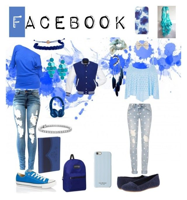 """Facebook Outfits"" by wings-of-silver ❤ liked on Polyvore featuring moda, Converse, Jigsaw, Ted Baker, Marc by Marc Jacobs, Domo Beads, Blue Nile, Anni Jürgenson, Fergalicious y Kenneth Cole"
