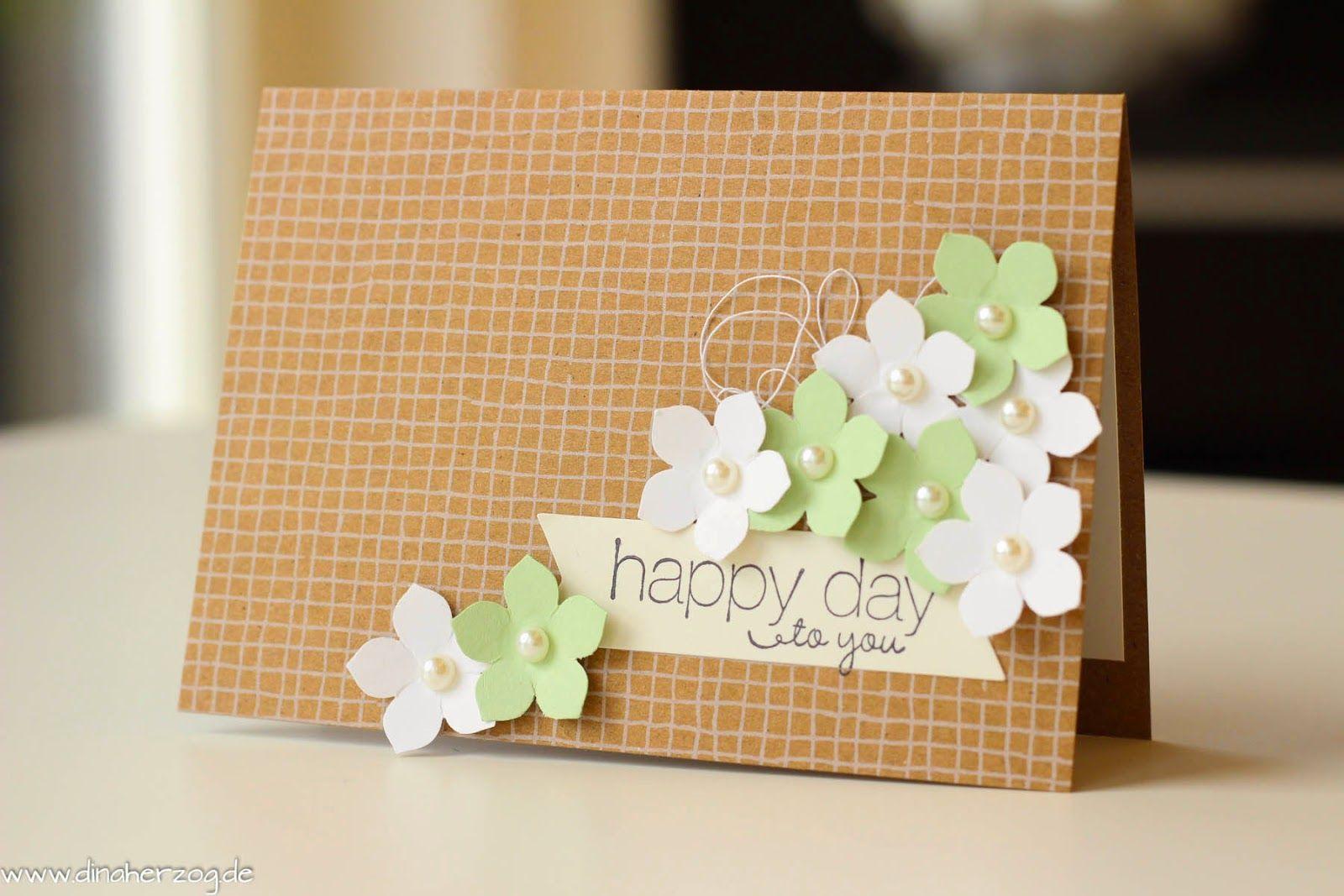 Flohmarkt!  Karten basteln, Blumenkarten, Karten selber machen