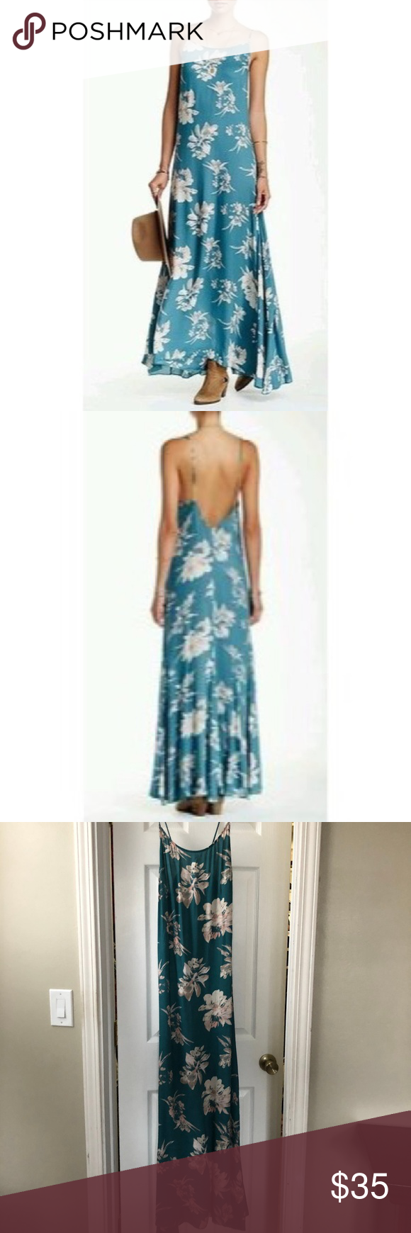c55680763d54d Free People Intimately Chasing Star low back Maxi Beautiful flowy low back Chasing  Star Maxi.