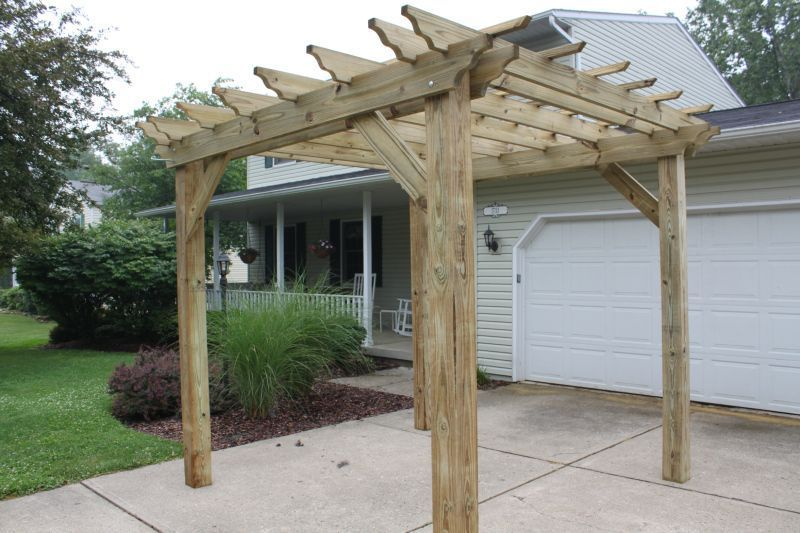 Easy To Make Pergola Plans diy garden projects better homes and . - Easy To Make Pergola Plans Diy Garden Projects Better Homes And