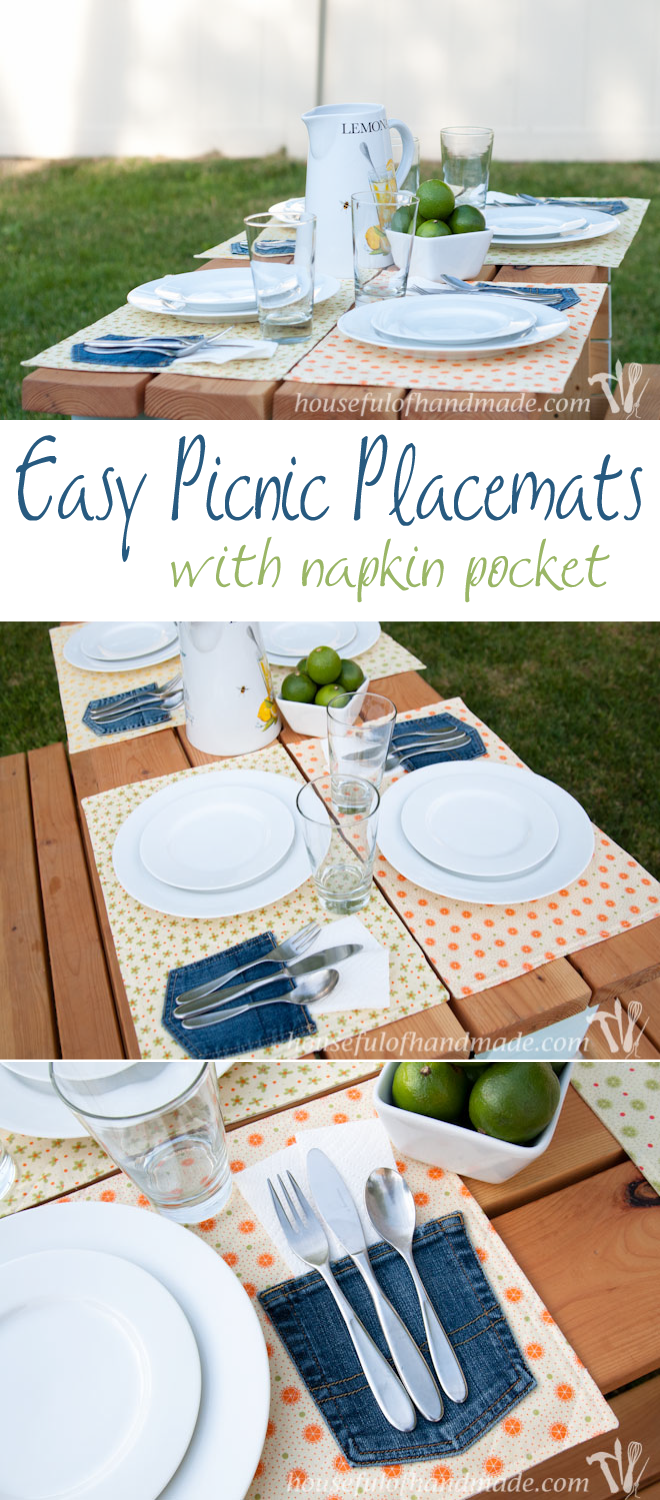 Easy Picnic Placemats with a Napkin Pocket | Crafts | Pinterest ...