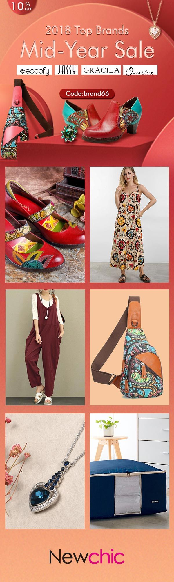【coupon code : brand66】2018 Top Brands Mid-Year Sale #womenfashion #summeroutfits #fashionover30 #discountshop