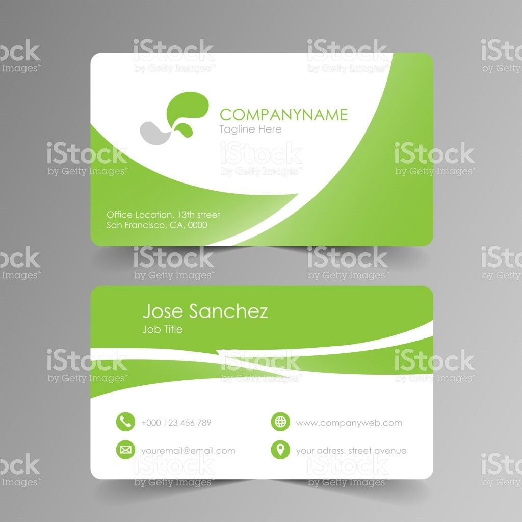 Simple Green Business Card Green Business Cards Laundry Business