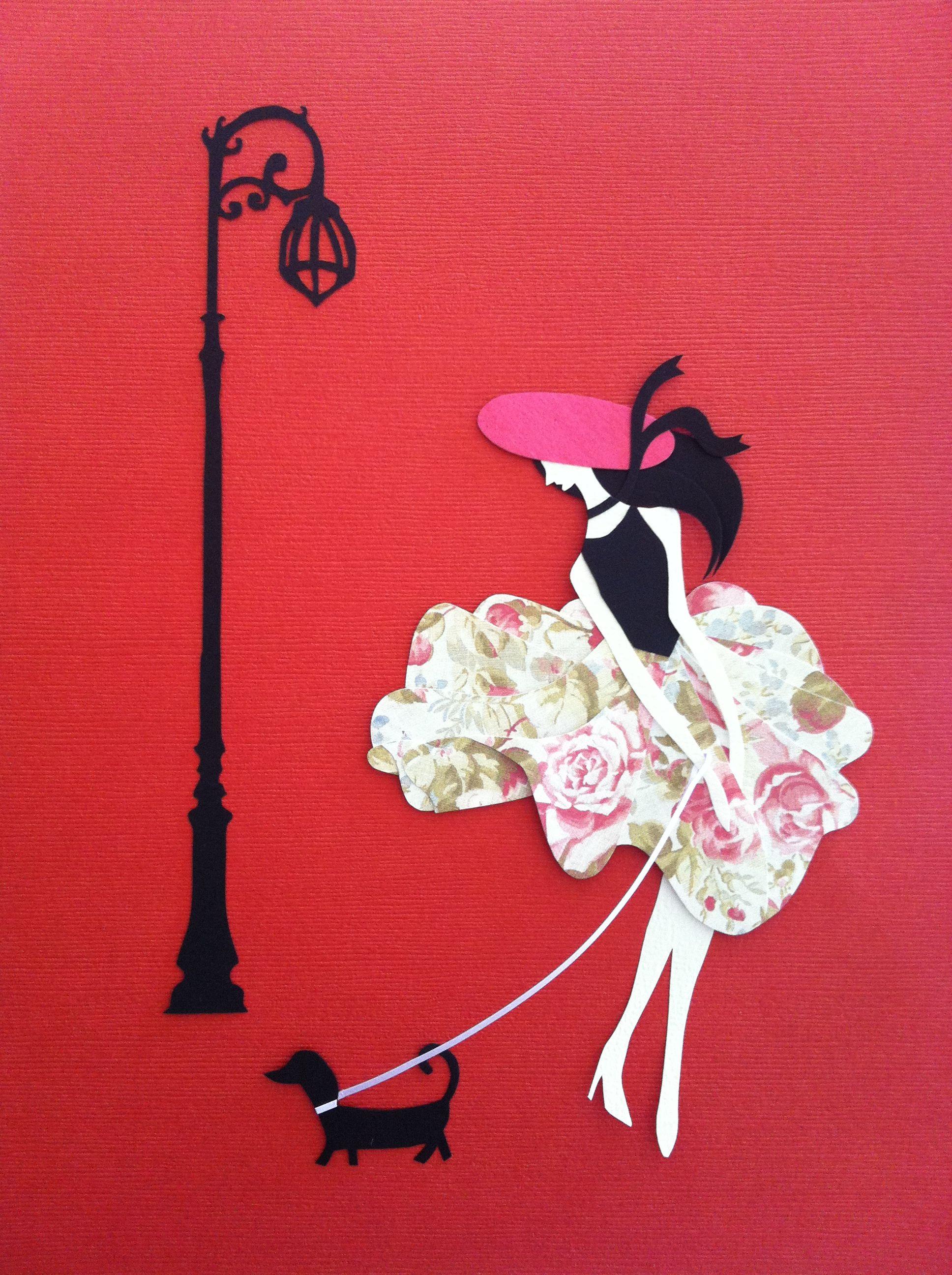 """Parisian Walking Her Dog"" $38"