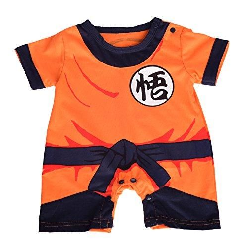 Dressy Daisy Baby Dragon Ball Son Goku Costume Dress Up Jumpsuit Romper Outfit Infant Size 12-18 Months