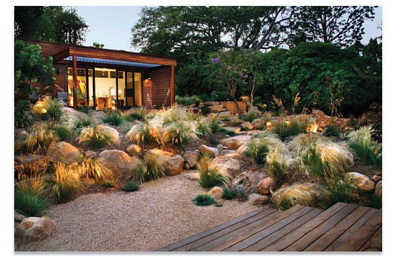 Pacific Prairie Rock garden design, Xeriscape
