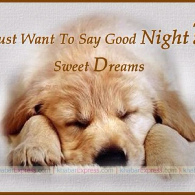 Genial Just Wanted To Say Goodnight, Sweet Dreams!