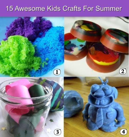15 Super Fun Kids Crafts For Summer Diy Pinterest Craft