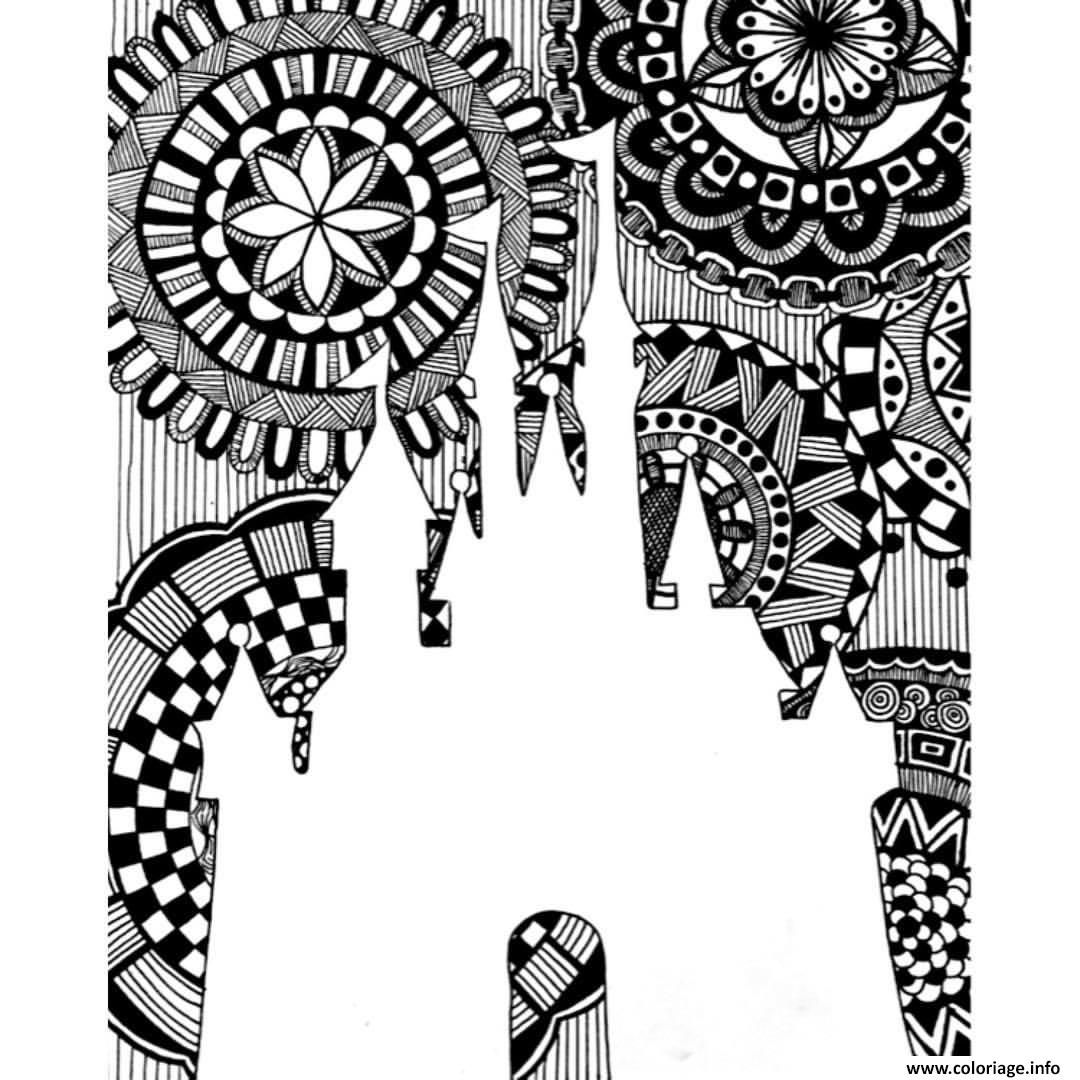 Coloriage mandala disney royaume Dessin à Imprimer  Coloriage