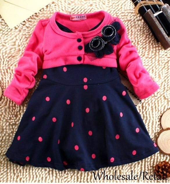 4dbd5949c 2019 New 2 5 Years Child Clothes Corsage Girl Winter Dresses Baby ...
