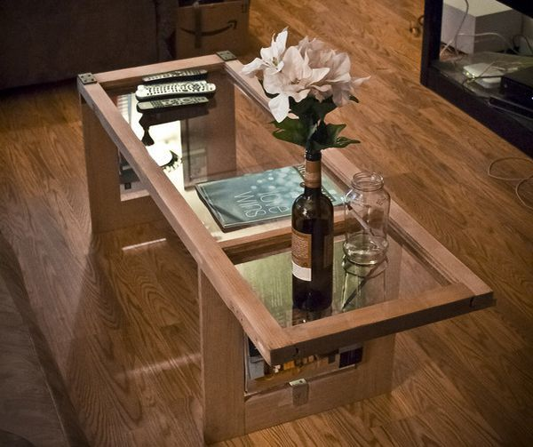 From Window To Table An Amazing Coffee Table Made From An - Couchtisch Alte Tür