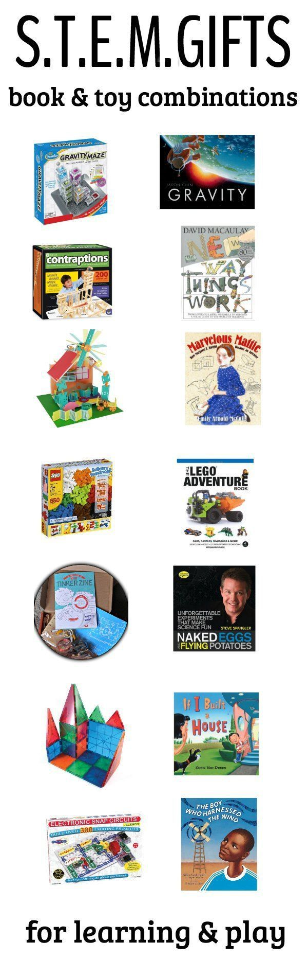 Top 10 STEM Gifts with Books to Match
