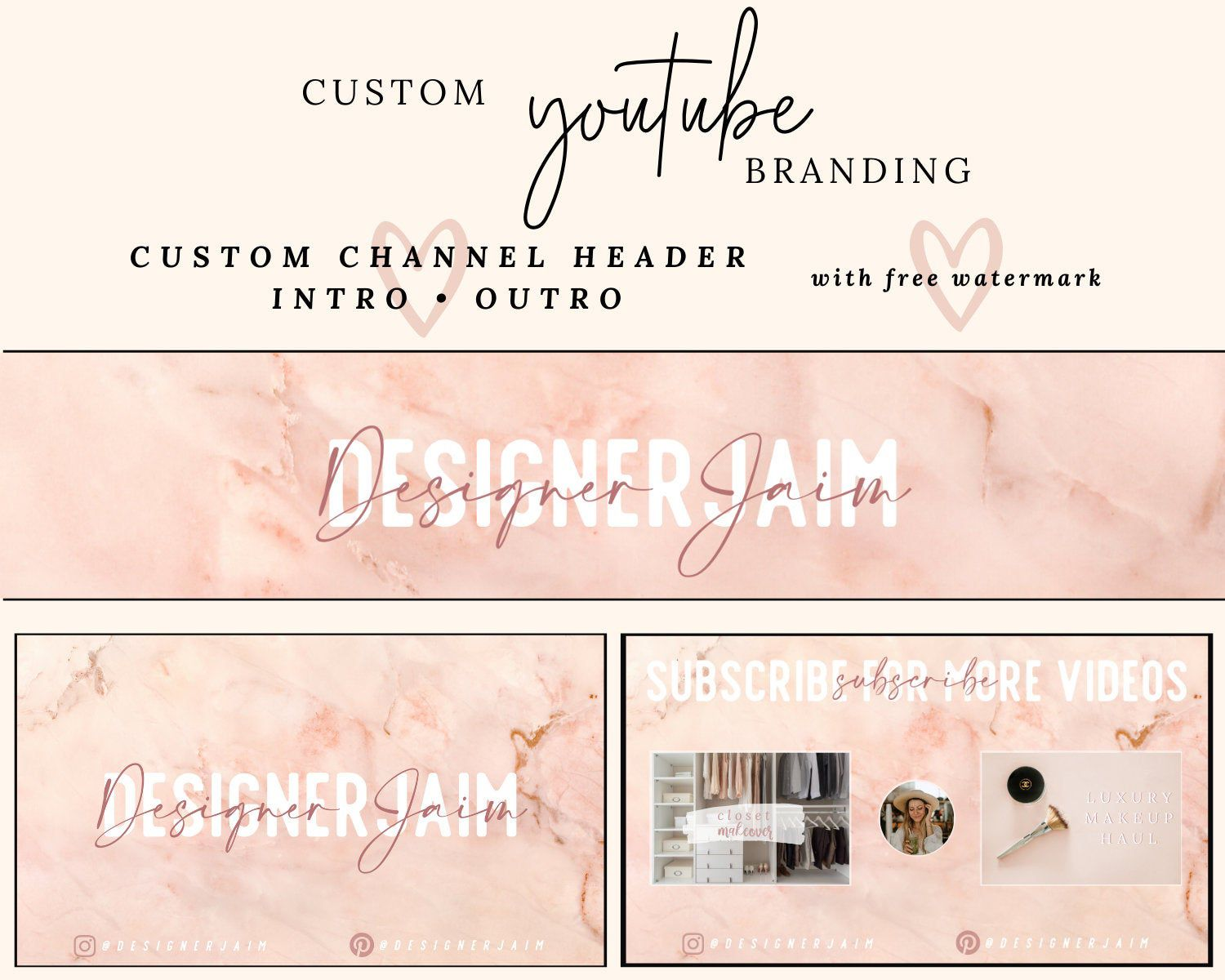 Youtube Mega Branding Kit Personalized Banner Intro Header Etsy Youtube Banner Backgrounds Youtube Banners Youtube Channel Ideas