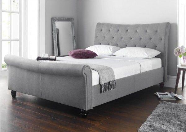 Seville Upholstered Sleigh Bed Grey Upholstered Beds Beds