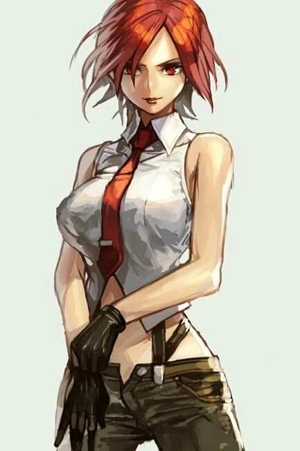 King Of Fighters Vanessa King Of Fighters Anime Art Girl Red