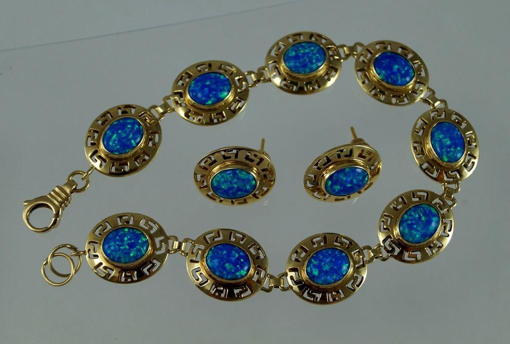 Bransoleta Kolczyki Zloto 585 Opal Australijski 5701524214 Oficjalne Archiwum Allegro Earrings Drop Earrings Jewelry