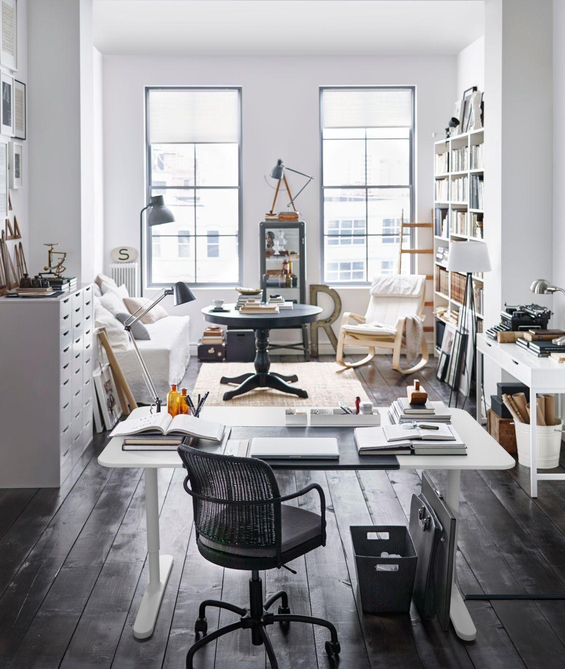 BEKANT Bureau, berkenfineer, wit | Bureaus, Study nook and Office ...
