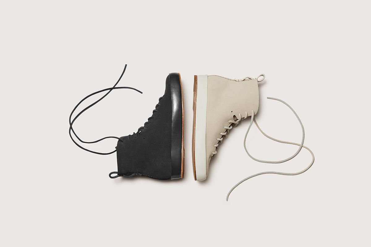 Brooklyn based Feit is introducing a new styleto their collection of hand sewn shoesthis spring, theHand Sewn Super High. The high top sneaker is a softer, more casual versioncompared to their sleek, calf leather cousin.We love that everypart of the shoe making process is thoughtfully