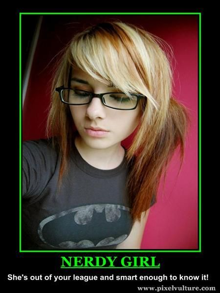 Assured Nerdy blonde teen emo girl amusing message
