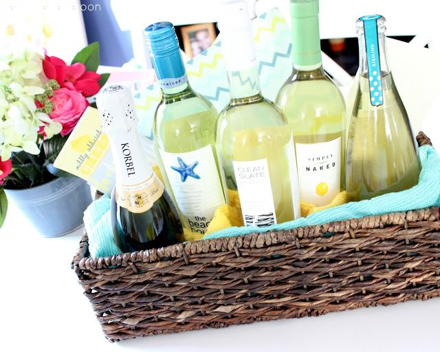 Wedding Gift Basket Of Firsts : wine gift baskets wine gifts wedding showers bridal shower basket ...