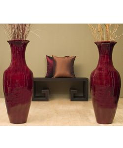 Large Decorative Vases And Urns Overstock  Bamboo Floor Vase With Floral Arrangement Brings