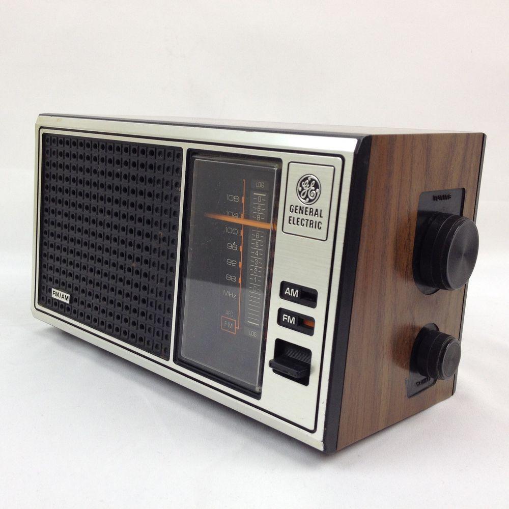 Ge General Electric Vintage Am Fm Radio 7 4115b Walnut Grain 120 Volts Works Ge Amfm Radios Vintage Vintage Radio Antique Radio Radio
