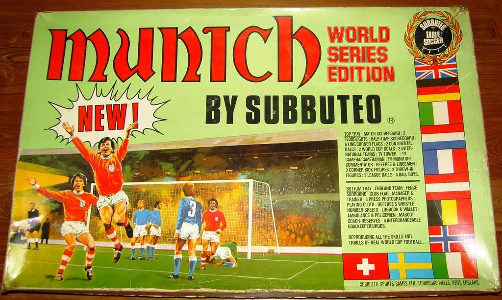 Subbuteo Munich Soccer Table Munich Nostalgia