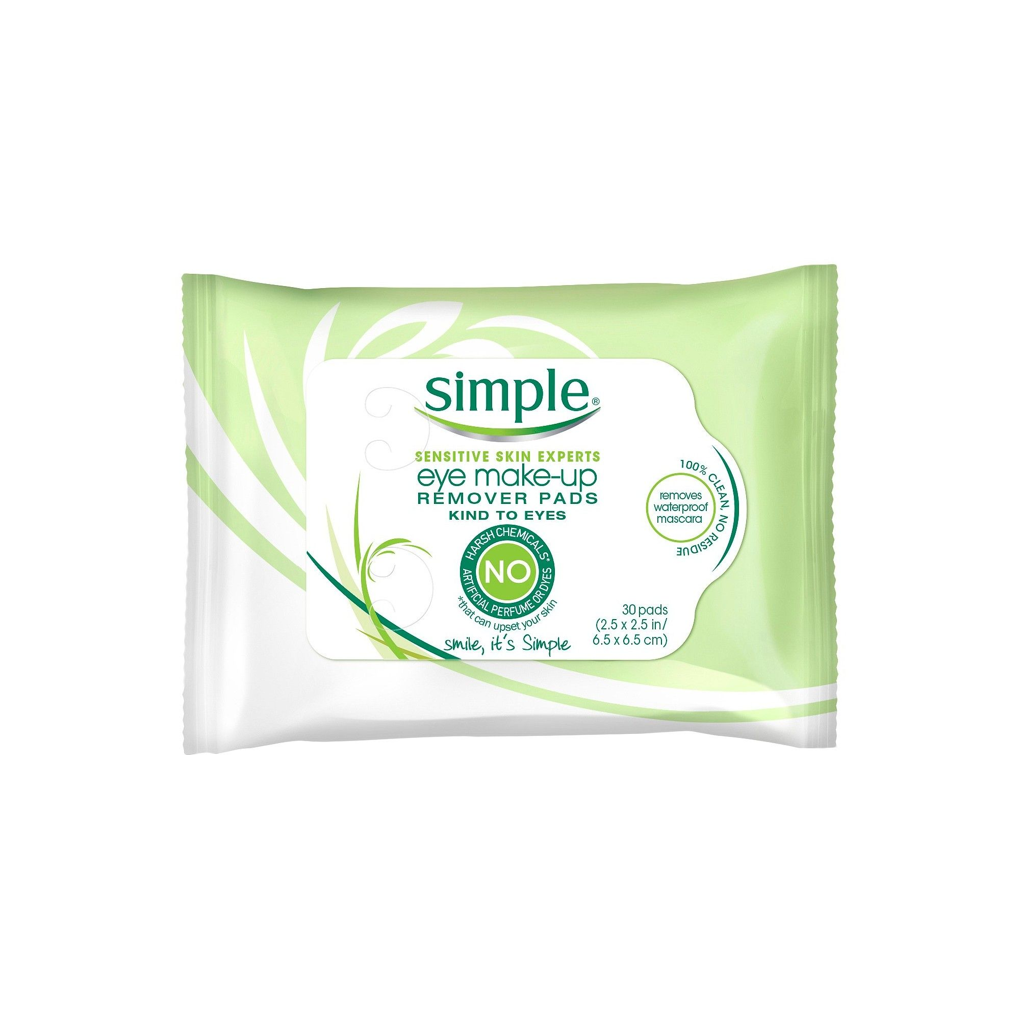 Simple Eye Makeup Remover Pads Kind to Eyes 30 ct Simple