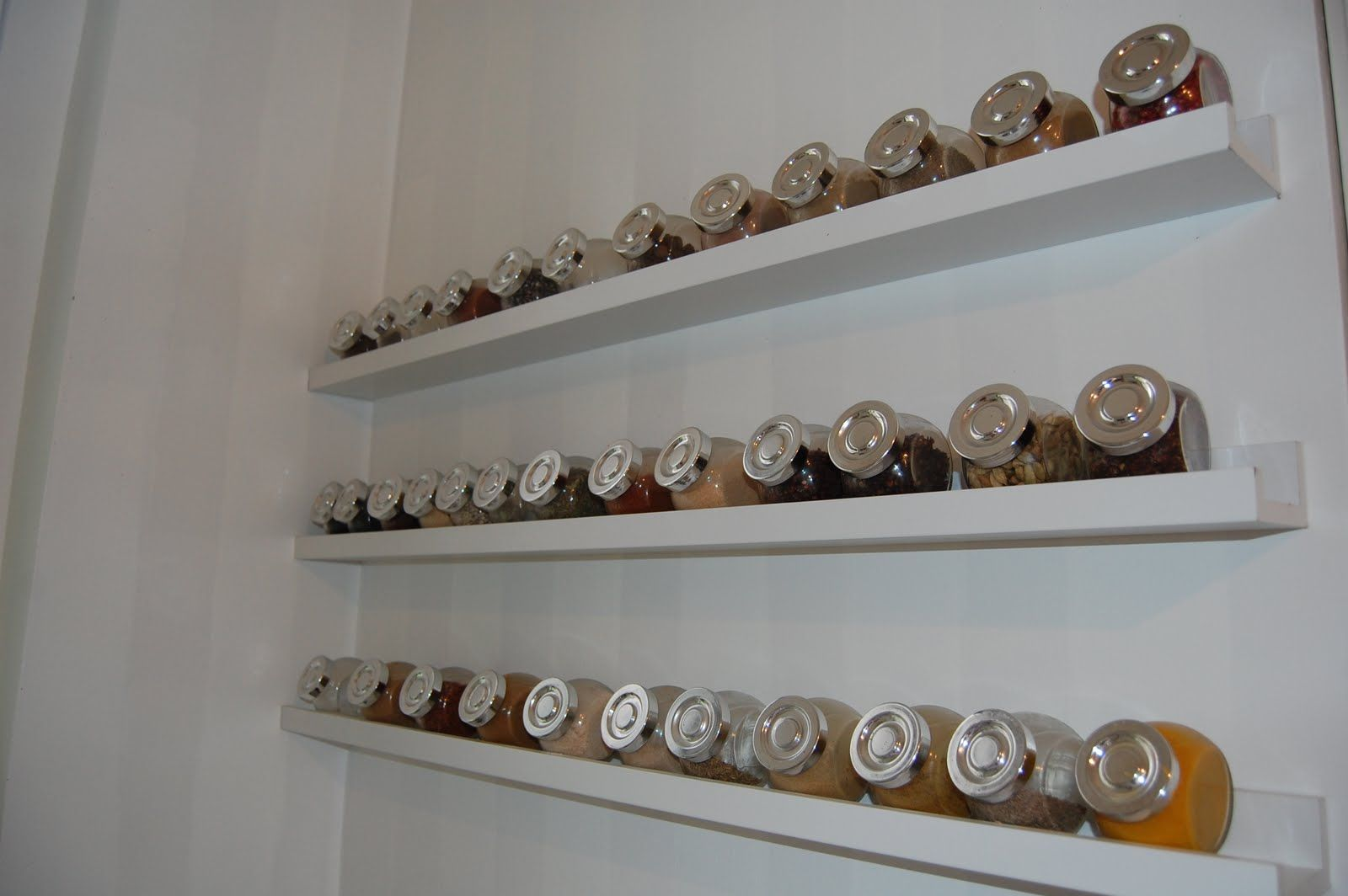 Accesories Decors Wall Mounted Ikea Spice Rack Hang On White