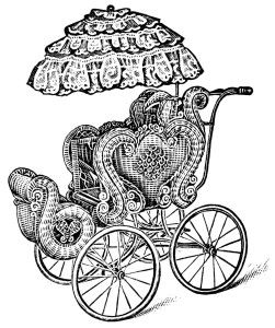 45+ Black And White Baby Carriage Clipart
