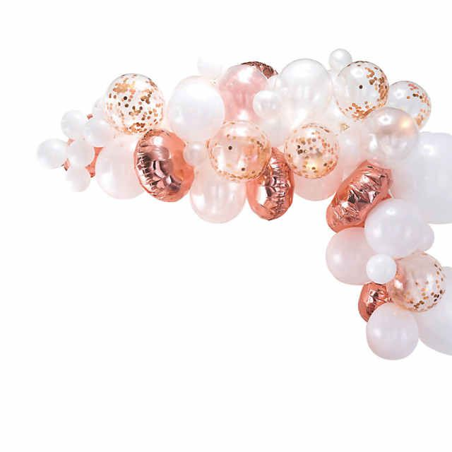 Ginger Ray Rose Gold Balloon Arch Kit | Oriental Trading #balloonarch