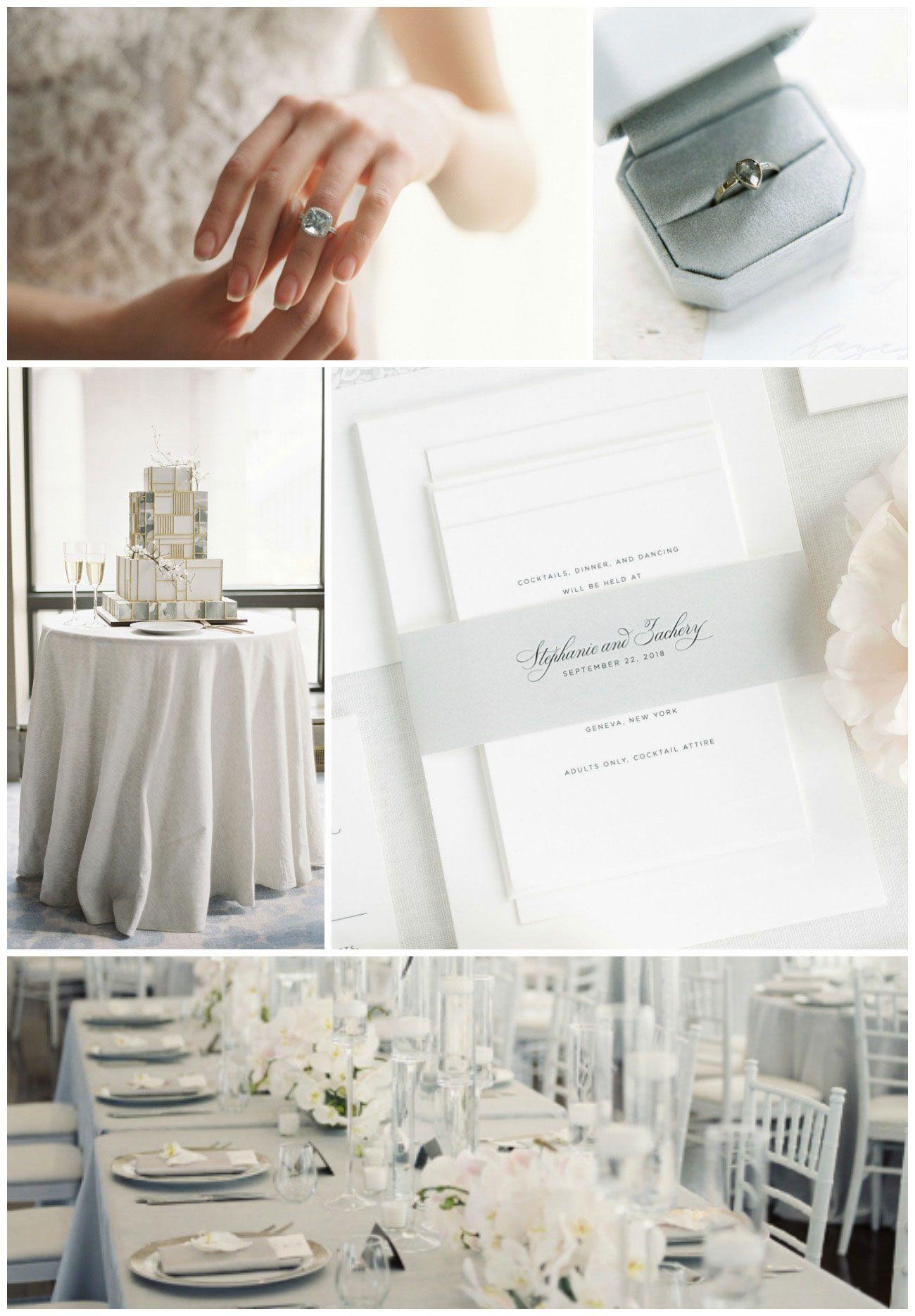 Elegant Gray Wedding Inspiration  Grey weddings Shine wedding