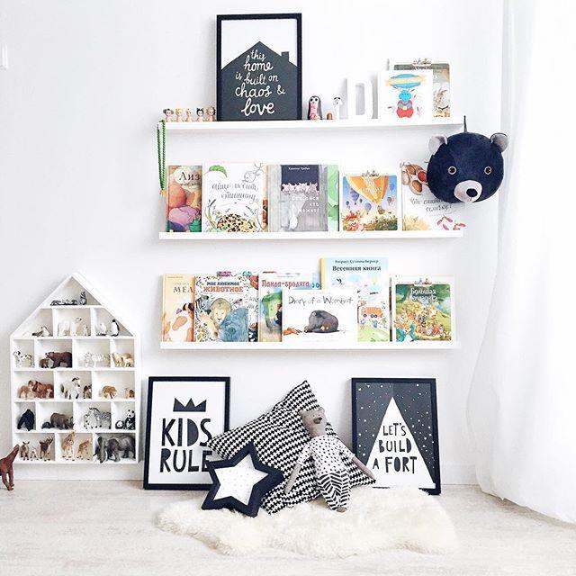 Rincón de lectura original con alfombra nube - Minimoi