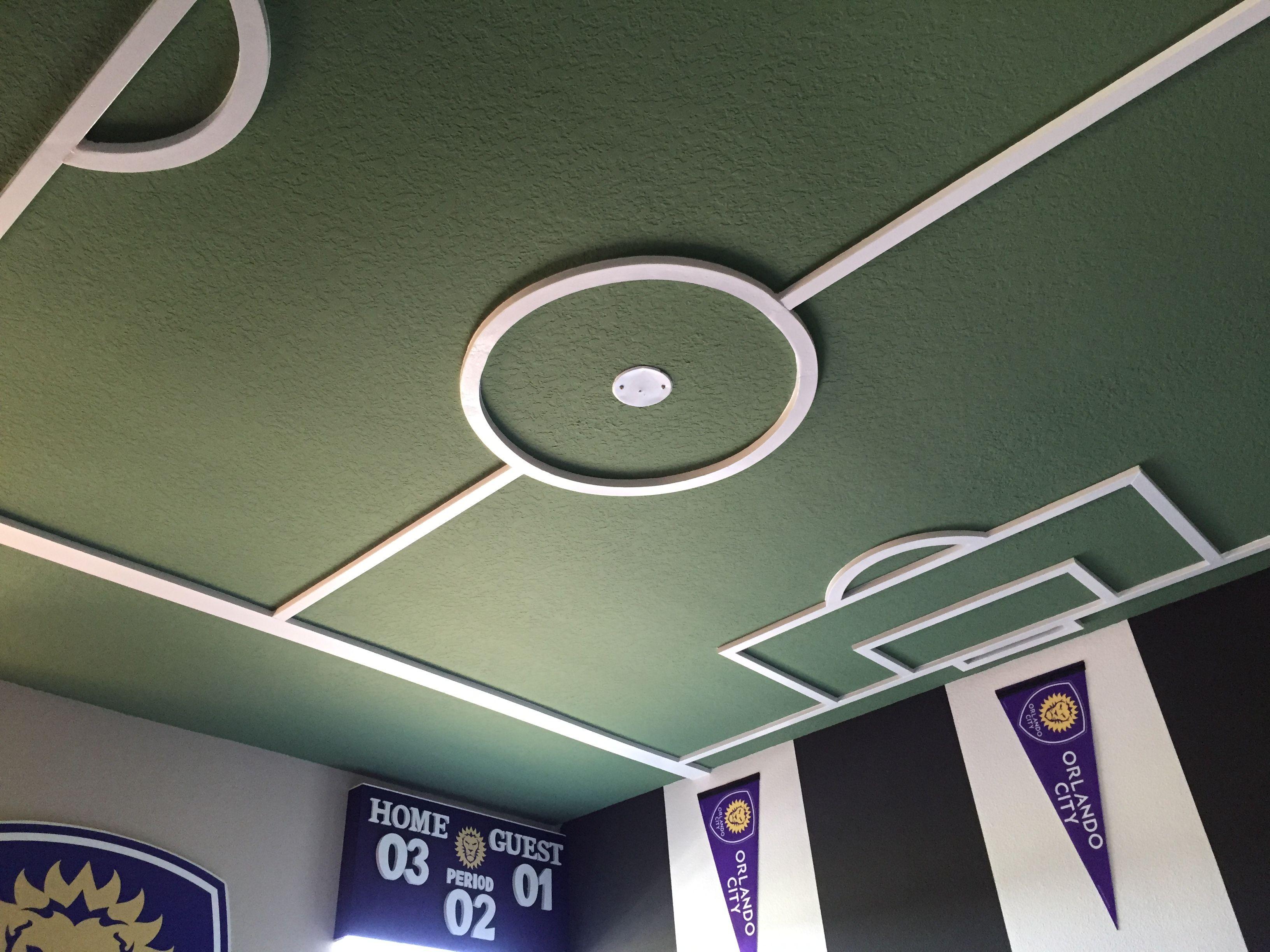 Soccer Bedroom Soccer Field Ceiling, Orlando City Soccer