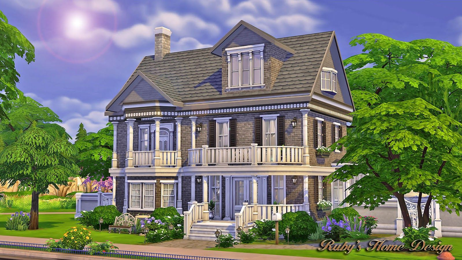 Sims4 The Chocolate House No CC Rubys Home Design