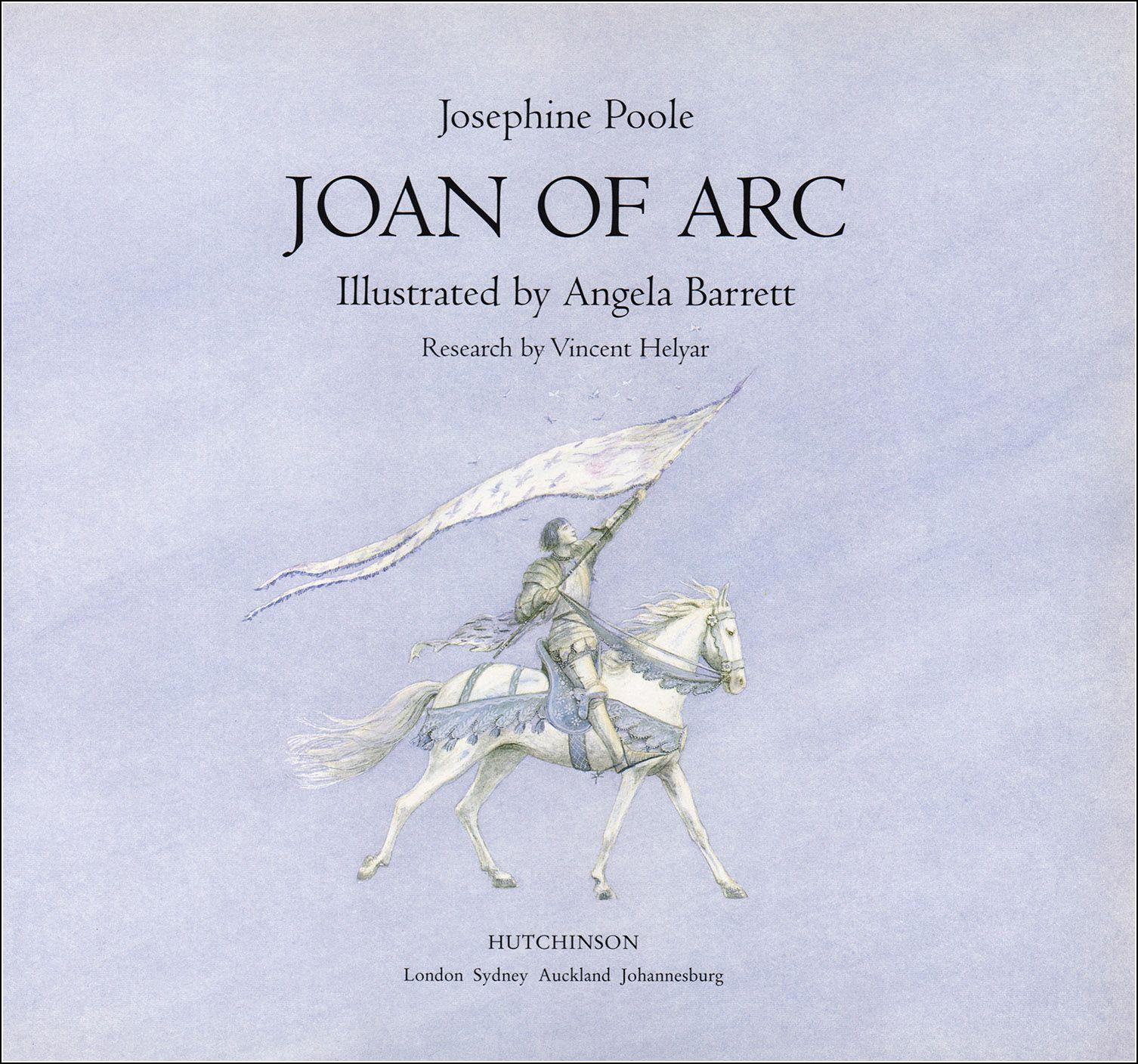 Joan Of Arc Illustrator Angela Barrett