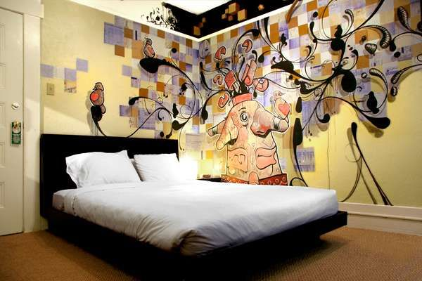 funky graffiti room! | rooms with cool paint jobs | pinterest