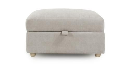 Blanche Large Storage Footstool Sherbet Dfs Storage Footstool