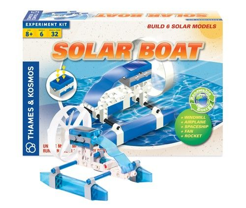 Solar Powered Electric Motor Kit: Construct A Solar-electric Boat And Five