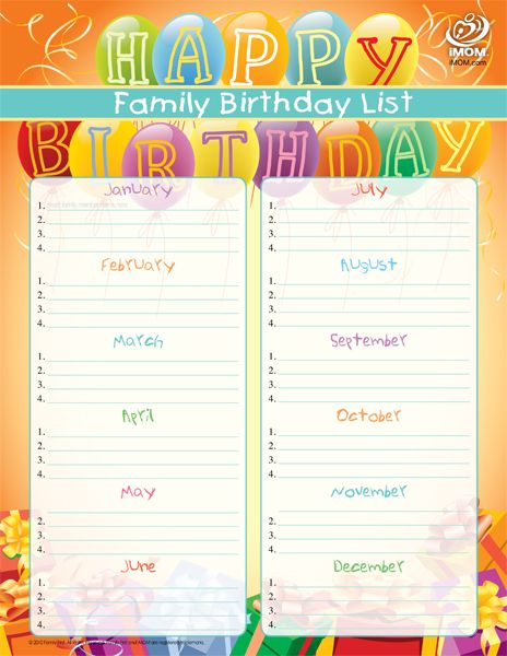 Family birthday list eeeek organization ideas for a type a like me family birthday list imom neat for keeping track of family and school friends maxwellsz