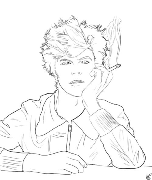 Coloring Pages David Bowie Yahoo Image Search Results A Whole