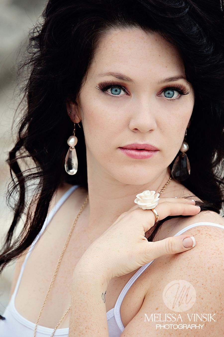 she is stunning. my favourite look, fair skin dark hair blue