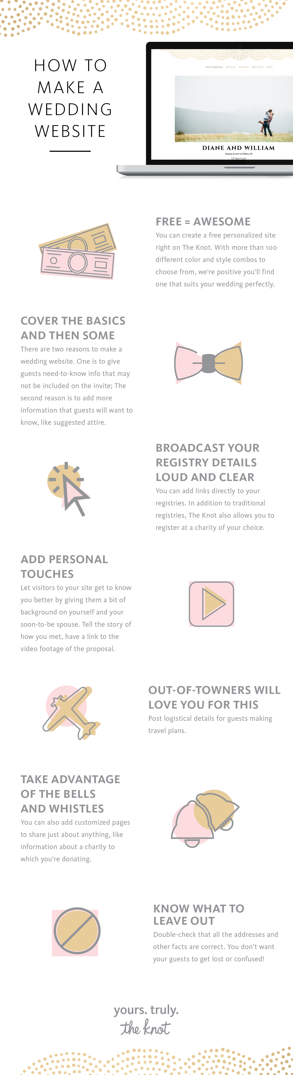 the 8 dos and donts of wedding websites wedding website